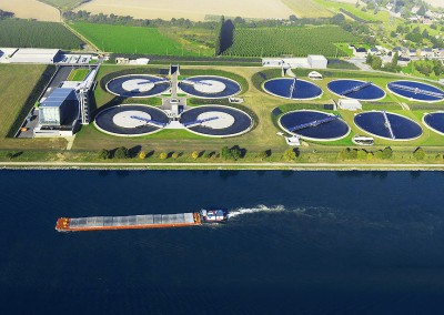 Wastewater treatment plant in Liège-Oupeye (Belgium)