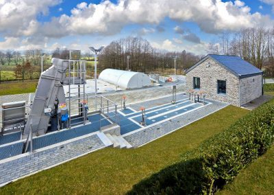 Waste water treatment plant in La Falize (Belgium)