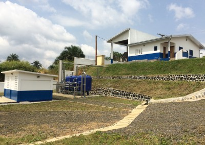Drinking water treatment plant in Tonga (Cameroun)